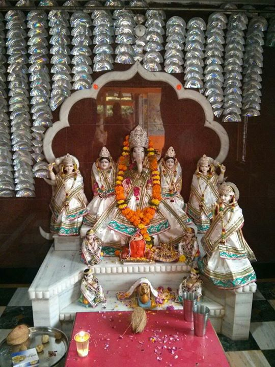 Lord Ganesha with 5 wifes