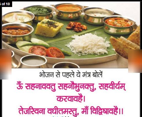 sanskrit mantra before taking food