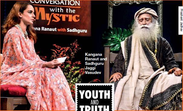 Kangana Ranaut and Sadhguru Jaggi Vasudev
