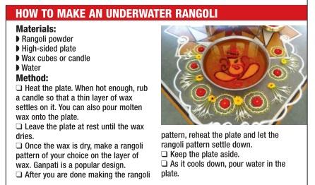 how to make an underwater rangoli