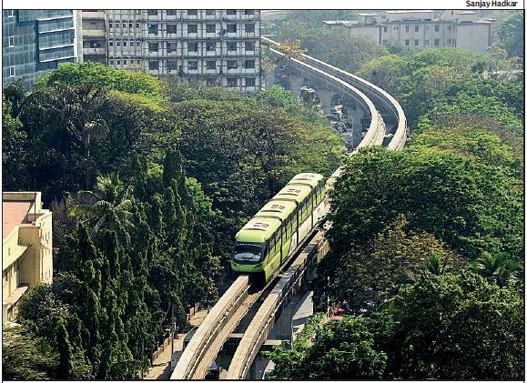 ON TRACK: The monorail will run on the entire 20-km Chembur-Wadala-Jacob Circle corridor from Sunday. Currently, it operates on the stretch between Chembur and Wadala. From Sunday, MMRDA will run 130 services at a frequency of 20 minutes. The revised fares are in four slabs: Rs 10, Rs 20, Rs 30 and Rs 40